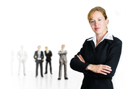 stock-photo-293945-strong-female-leader-in-business-suit-men-supporting-her